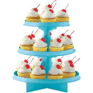 Stand Cupcakes Azul Turquesa Festa Na Hora
